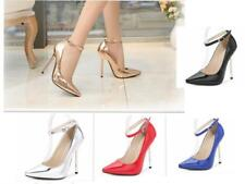 WOMENS LADIES COURT SHOES PARTY HIGH HEELS STILETTOS ANKLE STRAP SMART WORK 1320