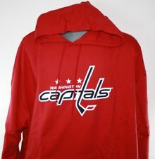 NEW Mens MAJESTIC Washington Capitals NHL Red B&T Hockey Pullover Hoodie