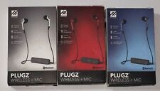 iFrogz Plugz  Wireless Bluetooth Earbuds Headphones with Mic -Blue / Red / Black