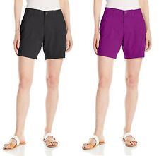 LEE Womens Shorts Relaxed Fit Libby Knit Waist Mid Rise size 4 16 18 NEW