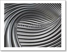 Elegant Metallic Curves Background - 1