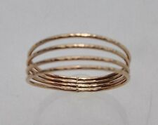 SZ 8 14K GOLD-FILLED QUADRUPLE BAND THUMB RING