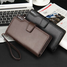 ID Credit Card Holder Billfold Leather Long Wallet Clutch Purse Casual Men M:<>