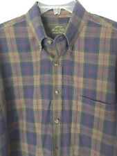 Orvis Mens Casual Shirt Long Sleeve Button Up Brown Plaid Size Large