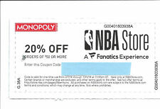 NBA Store.com coupon - 20% off order of $50 or more code promo