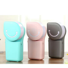 Portable Mini Air Conditioner Fan Smile Face USB Charging Travel Cooling Fan