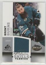 2017 Upper Deck SP Game Used NHL All-Star Skills Fabrics #AS-BB Brent Burns Card