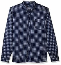 Fred Perry Men's Polka Dot Shirt, Medieval Blue