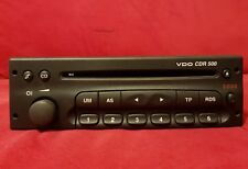 VAUXHALL  VDO CDR500 or DELCO CDR 500 CAR RADIO CD PLAYER WITH SECURITY CODE