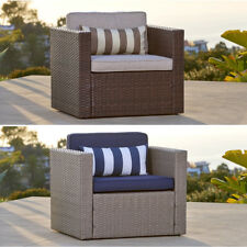 SOLAURA Wicker Chair Sofa for Patio Outdoor Sectional Set Combination Furniture