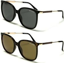 POLARIZED LADIES WOMEN SUNGLASSES DESIGNER OVERSIZED CAT EYE RETRO VINTAGE UV400