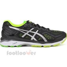Asics Gel Kayano 23 T646N 9093 Mens Shoes Black Silver Yellow Running Sneakers