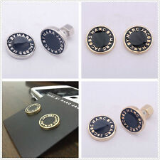 New FASHION MARC BY MARC JACOBS 6 COLORS LETTERS DISC STUD EARRINGS