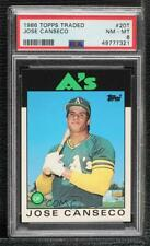 1986 Topps Traded #20T Jose Canseco PSA 8 NM-MT Oakland Athletics RC Rookie Card