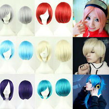 Hot Sell Cosplay Party Full Wig Short Straight Women Men Wigs Heat Resistant Ewq