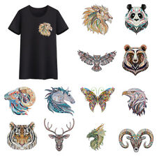 Ethnic Style Animals Heat Transfer Offset DIY Clothes Stickers Iron On Patches