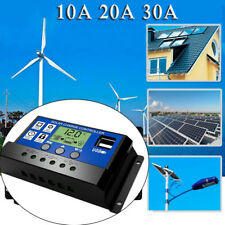 10A/20A/30A PWM Solar Panel Charger Controller 12V/24V Battery Regulator 2 USB