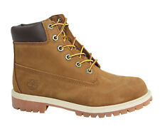 Timberland 6 Inch Premium Juniors Boots Kids Shoes Rust Brown Leather 14949 D27