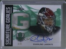 2018 Leaf Masked Men Signature Goalies Green #SG-CL1 Charline Labonte Auto Card