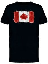 Brush Painting Of Canada Flag Men's Tee -Image by Shutterstock
