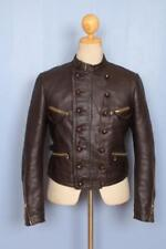 Vtg 1930s GERMAN French Leather Cyclist Motorcycle Flight Jacket Luftwaffe