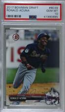 2017 Bowman Draft #BD-39 Ronald Acuna PSA 10 GEM MT Atlanta Braves Jr. Card