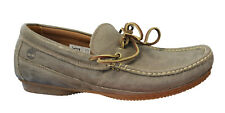 Timberland Moccasins Mens Slip On Brown Lace Up Leather Casual Loafer 5002R D6