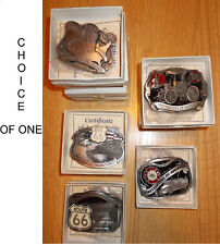 Buckles of America Lmtd Edition Belt Buckle ROUTE 66 or FIREFIGHTERS OF AMERICA