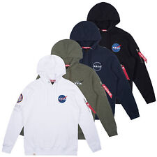 Alpha Industries Men's Hooded Pullover Apollo 11 Hoodie Nasa Pullover S to 3XL