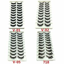 Gam-Belle® 10 pairs/lot Strip Eyelashes Volume Bulk Black Long Handmade Lashes