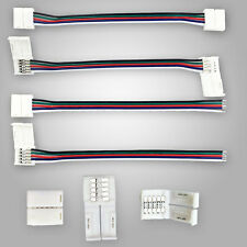 12MM 5 PIN Connector Cable Wire For 5050 RGBW LED Strip Free Soldering 1-100PCS