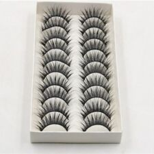 Gam-Belle® 10 pairs/set Natural False Eyelashes Thick Long Black Soft Extensions