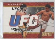 2009 Topps UFC Authentic Fight Mat Relic Gold #FM-TG Tyson Griffin MMA Card