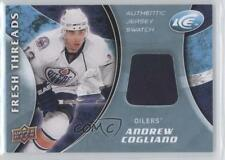 2009-10 Upper Deck Ice Fresh Threads #FT-AC Andrew Cogliano Edmonton Oilers Card