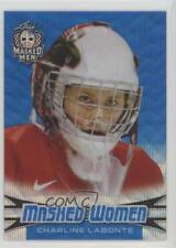 2018-19 Leaf Masked Men Blue Wave #18 Charline Labonte Rookie Hockey Card