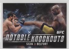 2018 Topps UFC Knockout Notable Knockouts #NK-AS Silva vs Belfort Anderson Vitor