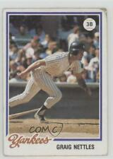1978 Topps Burger King Restaurant New York Yankees #14 Graig Nettles Card