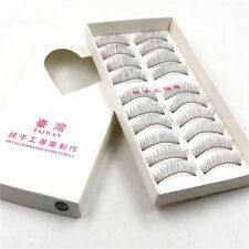 Gam-Belle® 10 pairs/set Handmade Eyelashes Natural False Thick Long Black Lashes