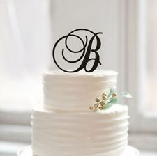 Buythrow® Personalized Letter B Cake Topper Monogram B Acrylic Cake Topper