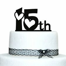 Buythrow® Anniversary Cake Topper With Love Design Acrylic Cake Topper