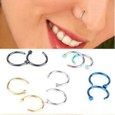 4PCS Nose Open Hoop Ring Earring Body Piercing Stainless Steel Studs Jewelry New