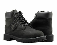 Timberland 6-Inch Premium Waterproof Black Youth Litte Kids Boots 12707