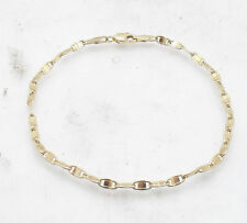 Mariner Anchor Gucci Link Chain Bracelet Real Solid 10K Yellow Gold ALL SIZES