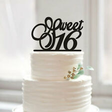 Buythrow® Happy Sweet 16th Birthday Cake Topper Personalized Unique