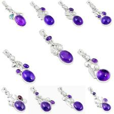 Natural purple amethyst pearl 925 sterling silver pendant jewelry