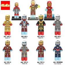 Iron Man Marvel Super Heroes Avengers Silver Centurion War Minifigure For Lego