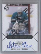 2015 SP Authentic Scripted Stoppers #SS-AI Arturs Irbe San Jose Sharks Auto Card