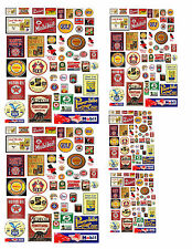 1:32 1:64  VINTAGE OIL GAS SIGN DECALS FOR DIECAST & MODEL CARS  DIORAMAS