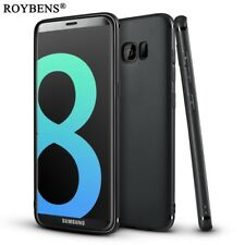 Roybens® Galaxy S8 Plus Case Luxury Ultra Thin Slim Matte Black Cover