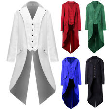 Steampunk Long Sleeve Men Jacket Military Victorian Coat Party Gothic Tailcoat